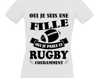 White t-shirt short sleeve 100% cotton B & C Exact 190 Rugby women