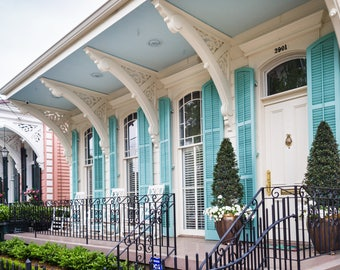 New Orleans Garden District Home Greeting Cards