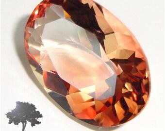 Oregon Sunstone Gemstone, Red, Flawless Clear, 3.50 ct.U.S.A.