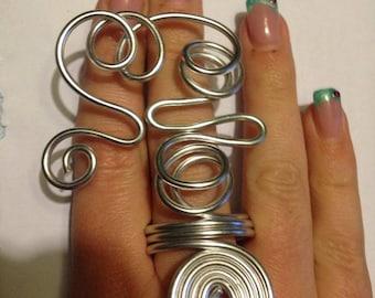Original aluminum on two finger ring