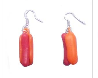 Earrings hot dog