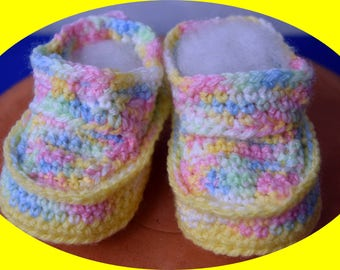 BABY shoes for 3-9 months, unisex, crochet baby shoes, baby shoes, Baby Slippers, Maitra for babies and infants