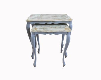 Old kitchenware nesting tables way East