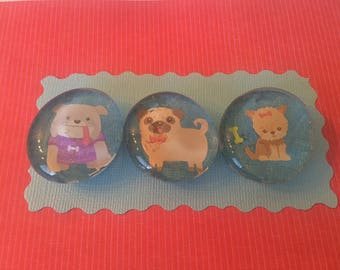 "Magnets 1 1/4"" dogs"