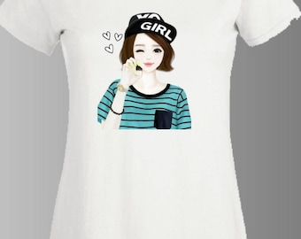 t-shirt woman, teen