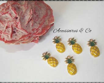 Charm glazed pineapple golden yellow & Green