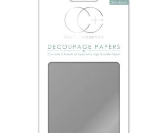 Paper patch (3 sheets) metallic silver - CCMDECP003