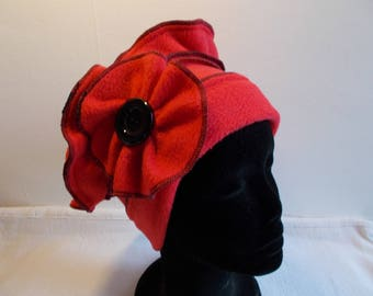 Scarlet red fleece Hat