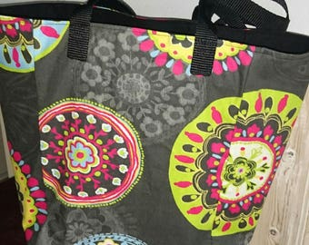 large patterned Beach style tote bag colors