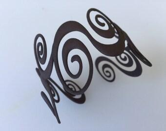 Water Swirl Bracelet - 3d printed nylon