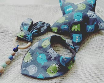 Little Blue Monster newborn set