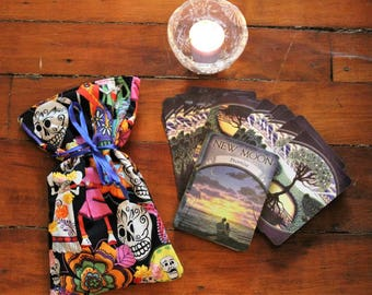 Day of the Dead Tarot bag/small bag/fabric bag
