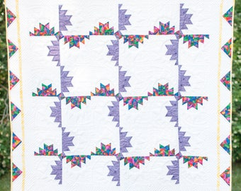 Pinwheels - Hand Quilted Wall Hanging