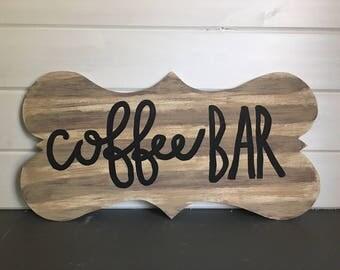 Wooden coffee hanger, wooden coffee sign, door sign, door hanger, coffee bar, coffee, bar, home decor, kitchen decor