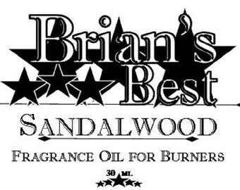 Sandalwood Scented Incense or Fragrance Oil Formulated for Burners or Warmers - Premium Grade & Quality!