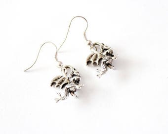 Silver DRAGON earrings