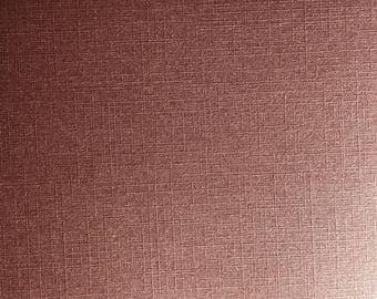 A5 thick paper deco textured effect woven Pearl scrapbooking - Burgundy