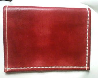 Burgundy simple credit card holder