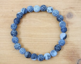 Blue agate happiness bracelet