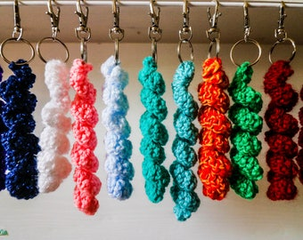 Curly Knitted Key Chain's