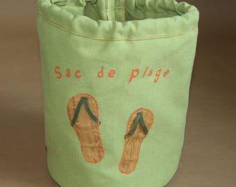 Kids beach bag - flip flops