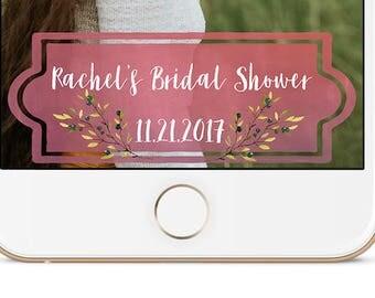 Bridal Shower Snapchat Geofilter | Rachel