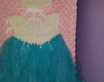 Crochet/tulle dress