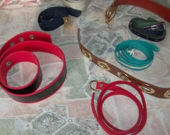 Mixed women's belts
