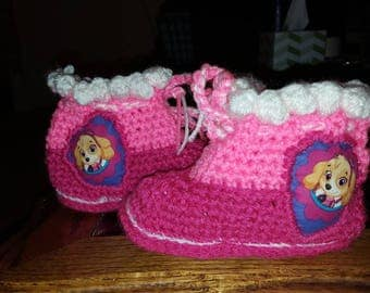 Crochet booties