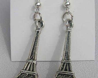pretty earrings silver Eiffel Tower