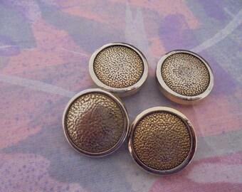 Set of 7 Vintage buttons metal 19 mm