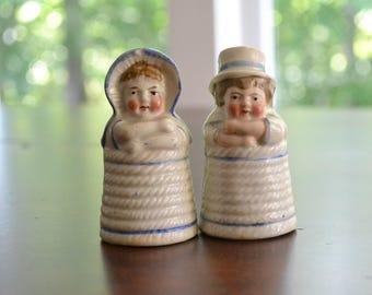 Kate Greenaway Figural Salt and Pepper Shakers