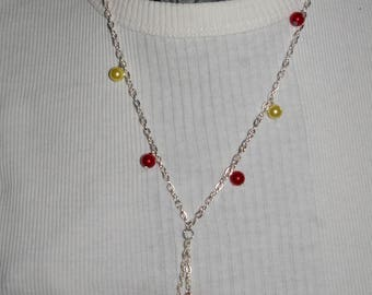 Cherry topping pastries necklace