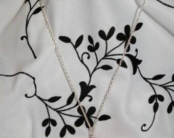Trio of orange-chocolate-vanilla Macaron necklace