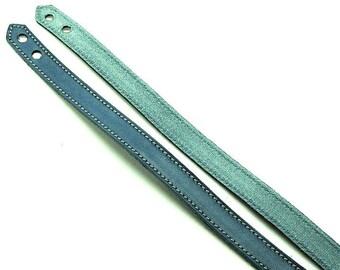 Bracelet / leather Design - predrilled - adjustable - Turquoise