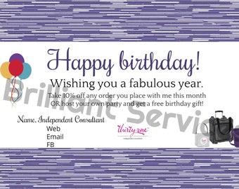 Thirty-One Gifts Customer Birthday - Digital File Postcard