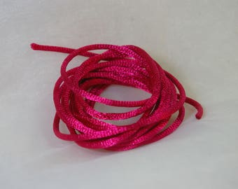 fuschia 2.5 mm rat tail cord 2 m