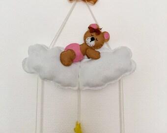 Teddy Bär on a cloud - mobile / wall decoration