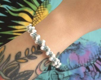 Blue Ice Beaded Bracelet