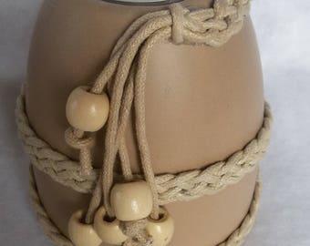 beige ceramic candlestick nature and zen