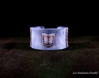 Imitation Jeans in polymer resin Cuff Bracelet