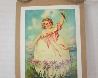 Set of 4 Easter Vintage Kraft cards