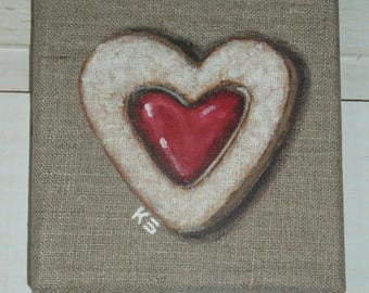 Sand jelly heart painting