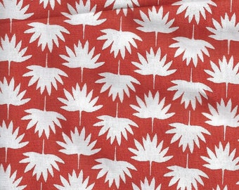 Red and White Cotton fabric - 60x50 cm