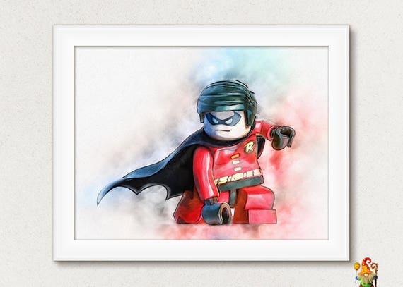 the lego batman movie print robin digital art download printable