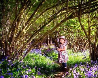 Bluebell Wood Backdrop, Woodland Background, Summer Digital Backdrop, Digital Background, Forest Backdrop, Portrait Background