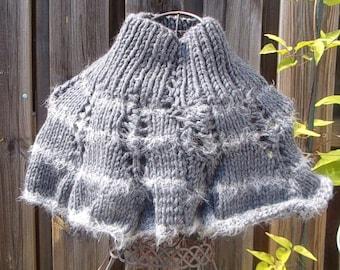 Heater shoulder woman gray wool