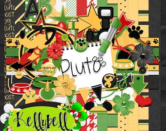Pluto-Disney Digital Scrapbook Kit
