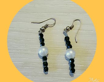 earring with White Pearl