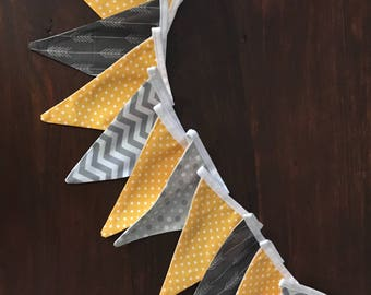 Fabric Bunting: bunting - baby shower - nursery decor